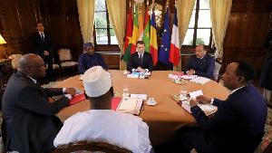 Emmanuel Macron et les présidents africains