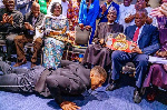 Anthony Joshua prostrated before Muhammadu Buhari as a sign of respect