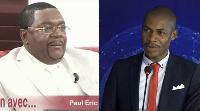 Paul Eric Kingué, président du parti MPCN et Narcisse Nganchop