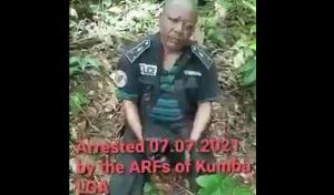 L'inspecteur de police Ngawe Eko entre les mains des ambazoniens