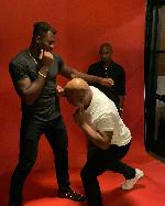 Tyson et Ngannou ont fait quelques petits mouvements là