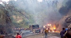 Vue d'un accident sur la falaise de Dschang