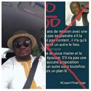 David Eboutou, journaliste et activiste politique et le coach Thierry Pat