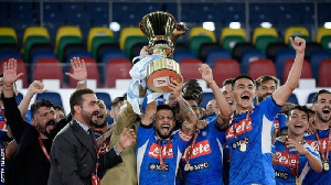 Napoli had to collect the Coppa Italia trophy themselves because of COVID 19 protocols