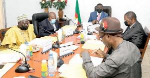Le président du CNC et ses collaborateurs