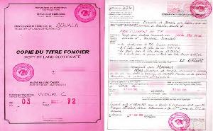 C'est le document qui authentifie l'existence du droit de propriété
