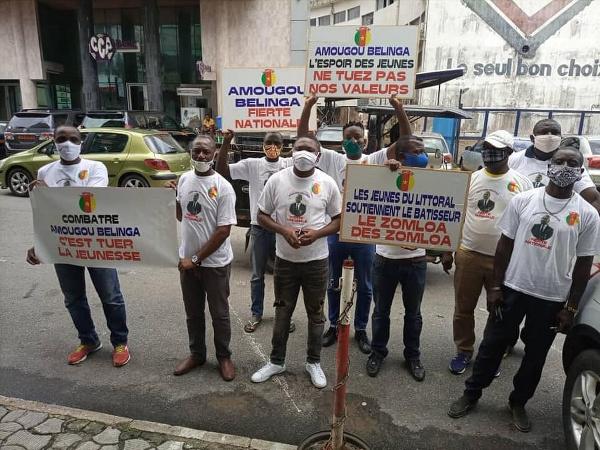 La marche organisée par des jeunes pour défendre Amougou Belinga