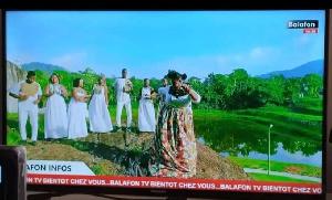 Des images de la chaîne de télé Balafon TV