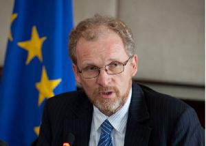 Hans-Peter Schadek est chef de la délégation de l'Union Européenne
