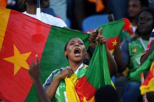 Une supportrice de l'équipe nationale
