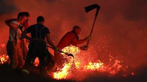 Les feux de brousse