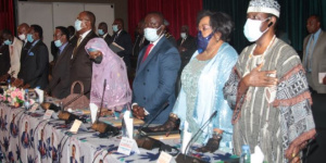 Des cadres du parti lors de l'ouverture de la réunion