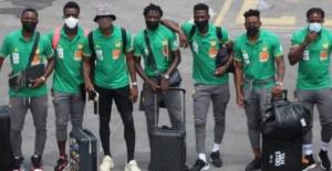 Photo de quelques joueurs arrivés à Praia