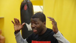 Issa Hamza, l'ancien champion du monde de boxe