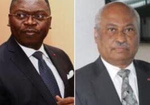 Ferdinand Ngoh Ngoh, SG de la présidence et Laurent Esso Minjustice