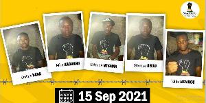 visuel des cinq activistes