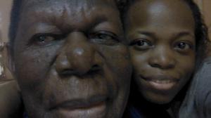 Selfie de Nadia et son père
