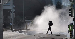 Des manifestants anti-Biya à Genève
