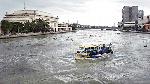 Au large de la rivière de Pasig