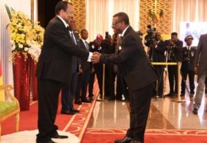 Paul Biya et Dion Ngute