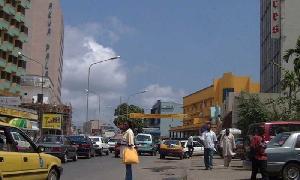 Dans le centre ville de Douala