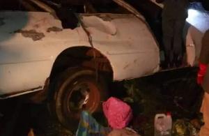 Le véhicule après l'accident