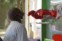 A man undergoes Covid-19 testing in Nigeria