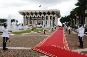 Le palais de la présidence à Etoudi