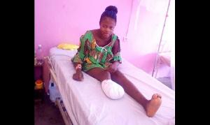 La femme à l'hôpital