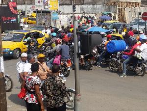 Une artère de la ville de Douala