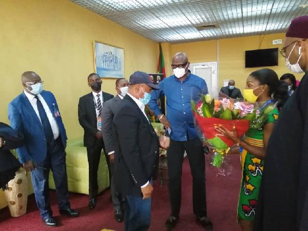 CHAN 2020: Ahmad Ahmad est arrivé au Cameroun