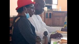 Le chef Bakai Joseph et son épouse