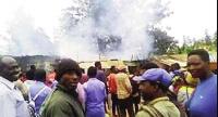 Les flammes ont été signalées au marché de Batié alors que la cérémonie d'installation débutait