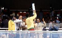 le premier titre continental du Cameroun avait suscité un engouement populaire sans précédent.