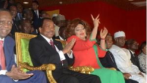 Chantal Biya en compagnie de son époux Paul Biya