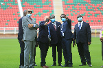 CAN 2021: la délégation de la CAF au stade d'Olembe [IMAGES]