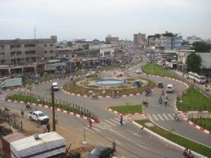 Dans le centre-ville de Douala