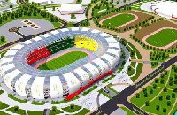 Maquette du stade d'Olembe