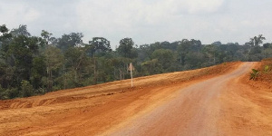 Une route en chantier
