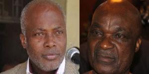 Kuissou Mephou Philippe  et Roger Milla
