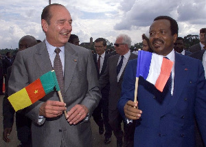Paul Biya et Jaques Chirac