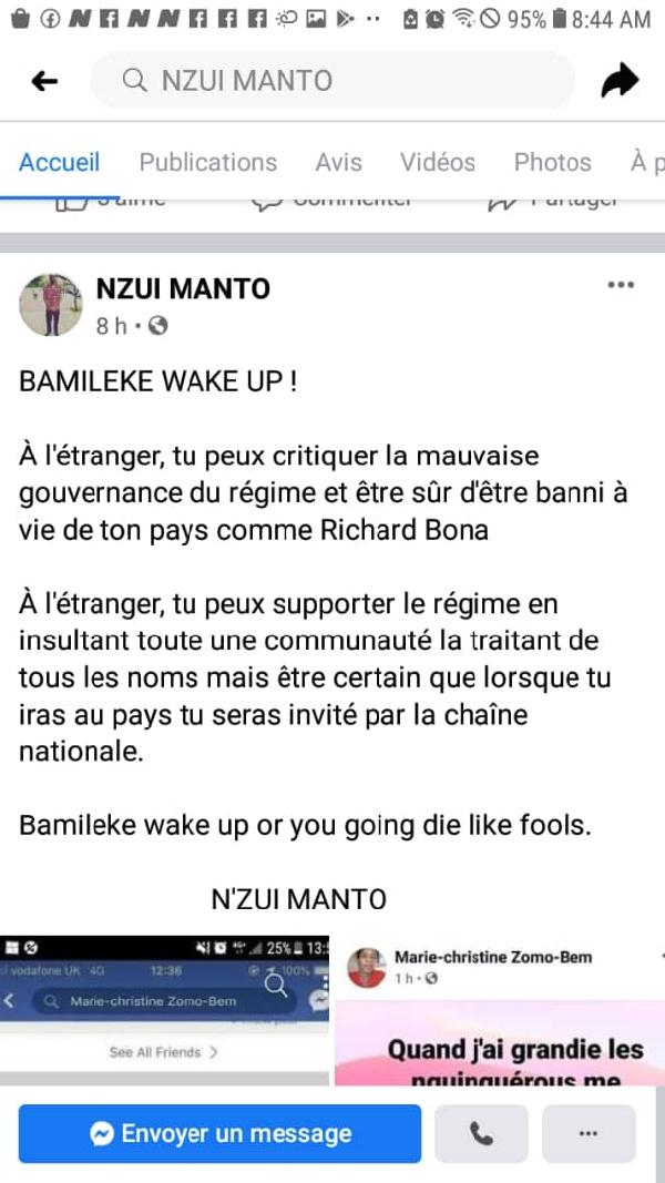 Réaction de Nzui Kamto