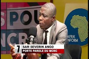 Sam Sévérin Ango, nouveau membre du MRC, devenu la risée des internautes