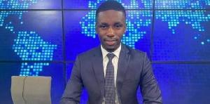 Bruno Bidjang, journaliste sur Vision 4