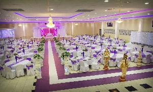Une grande salle de mariage (illustration)