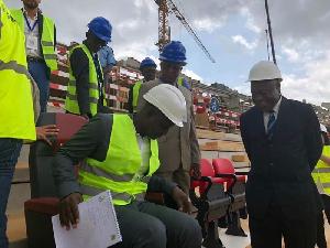 La mission va évaluer l'avacnement des travaux des stades