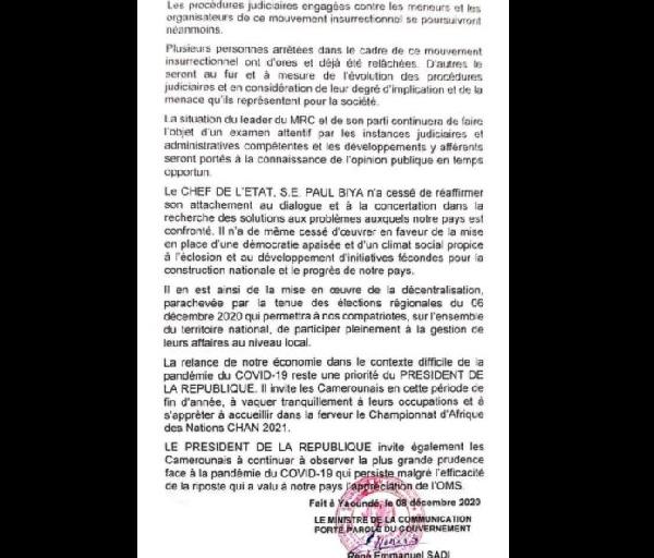 poursuites judiciaires contre Kamto