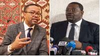 Prof Franklin Nyamsi et Paul Eric Kingué, président du parti MPCN