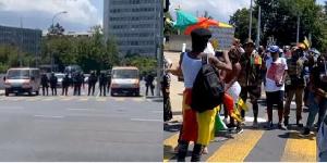 La police  a bloqué tous les accès à l'hôtel InterContinental