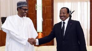 Paul Biya et Mouhammadou Buahri